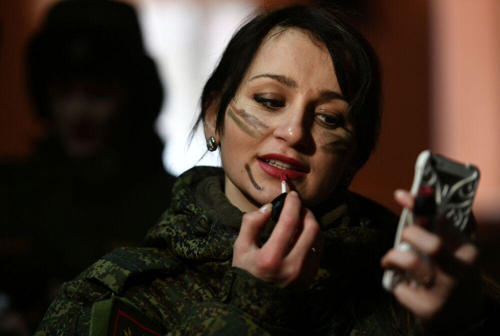 Soutěž krásy Make-up v maskáčích