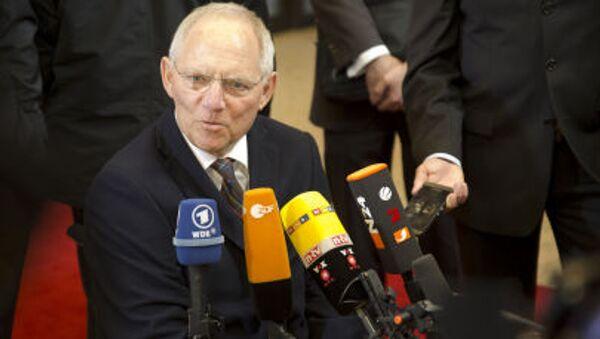 Německý ministr financí Wolfgang Schäuble - Sputnik Česká republika