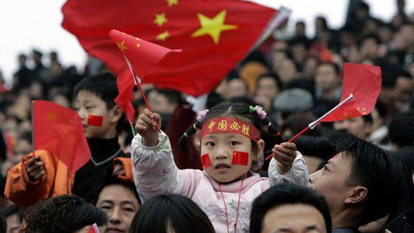 Děti s čínskými vlajkami - Sputnik Česká republika