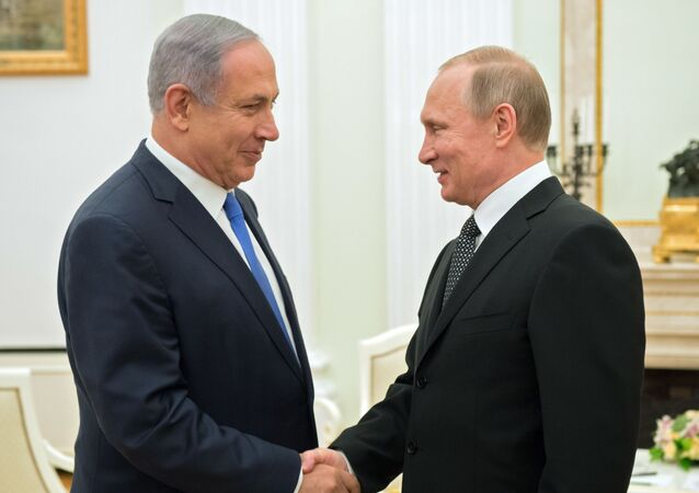 Izraelský premiér Benjamin Netanjahu a prezident Ruska Vladimir Putin