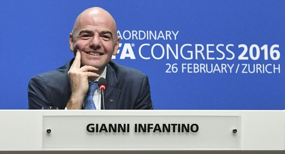 Prezident Mezinárodní fotbalové federace Gianni Infantino
