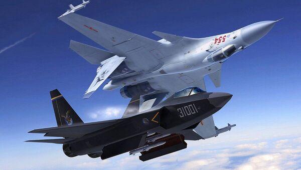 Čínské stíhačky J-31 a J-20 - Sputnik Česká republika