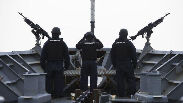 Posádka americké vojenské lodě nedaleko Norska. Ilustrační foto - Sputnik Česká republika