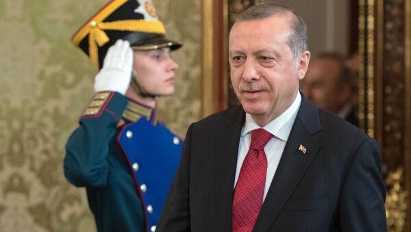 Turecký prezident Recep Tayyip Erdogan na návštěvě v Rusku - Sputnik Česká republika