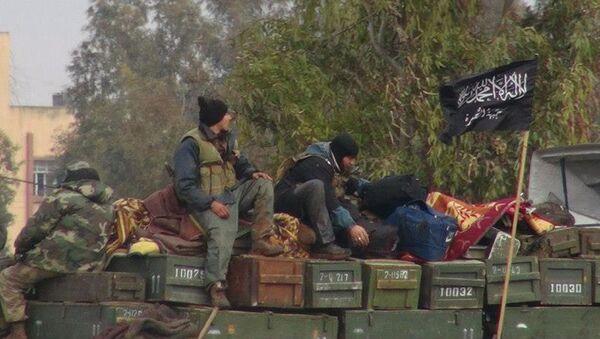 Bojovníci teroristické skupiny Džabhát an-Nusra - Sputnik Česká republika