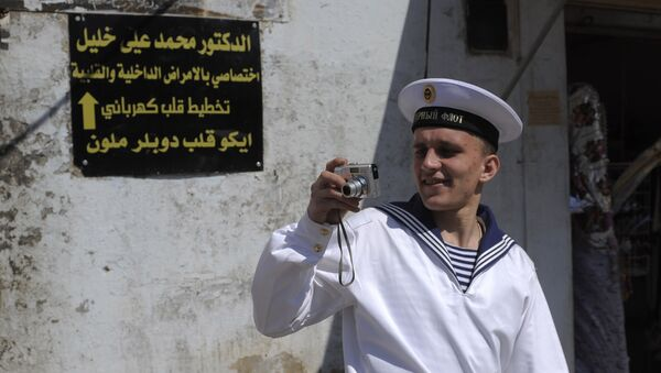 Ruský námořník v Tartusu - Sputnik Česká republika
