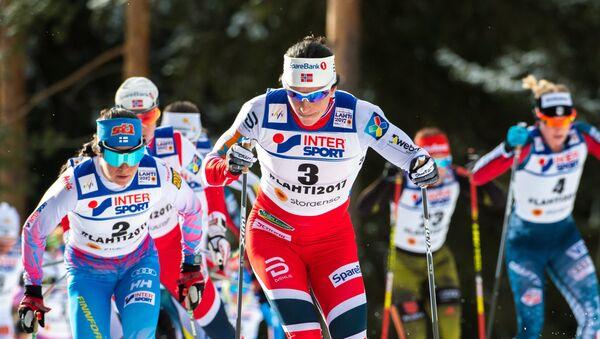 Šestinásobná olympijská vítězka v běžeckém lyžování Marit Bjørgenová během mistrovství světa v Norsku - Sputnik Česká republika