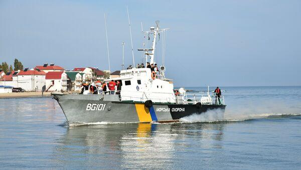 Člun ukrajinské pobřežní hlídky - Sputnik Česká republika