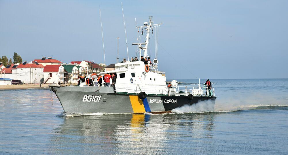 Člun ukrajinské pobřežní hlídky