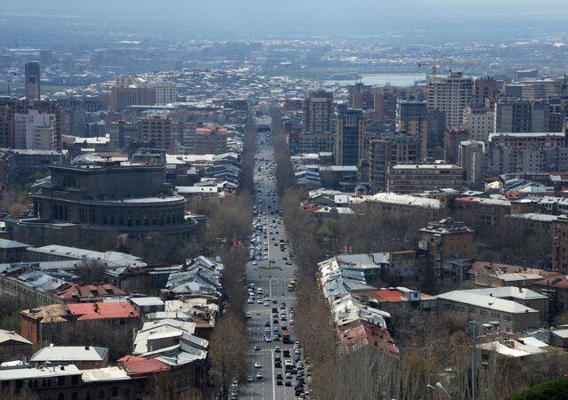 Pohled na Jerevan