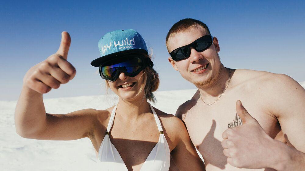 """Bílé """"pláže"""" Bajkalu"""