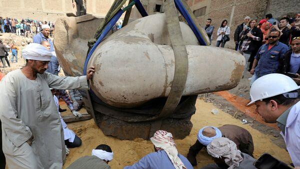 Archeologický nález v Káhiře: kolos Ramesse II. - Sputnik Česká republika