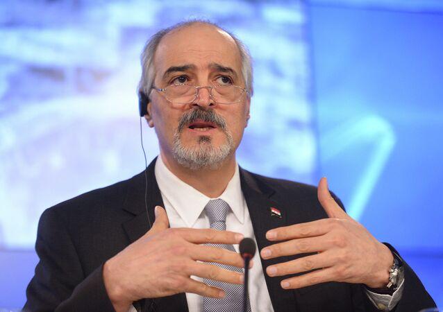 Vedoucí syrské vládní delegace Bashar Jaafari