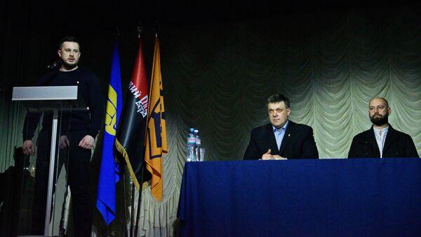 Ukrajinští nacionalisté podepsali manifest o sjednocení sil - Sputnik Česká republika