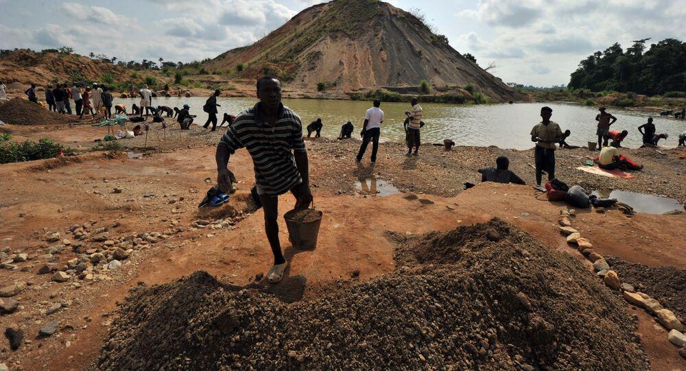 Naleziště diamantů v Sierra Leone