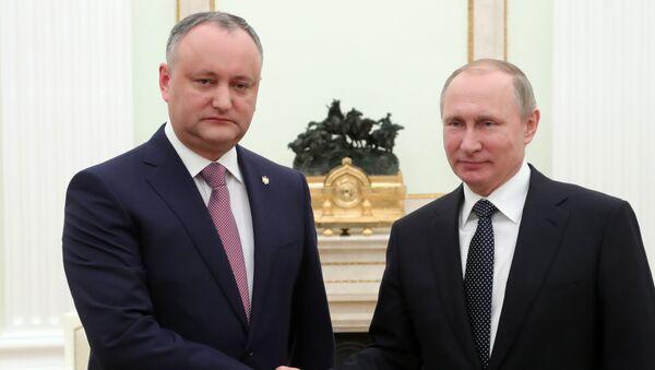 Schůzka Igora Dodona a Vladimira Putina - Sputnik Česká republika