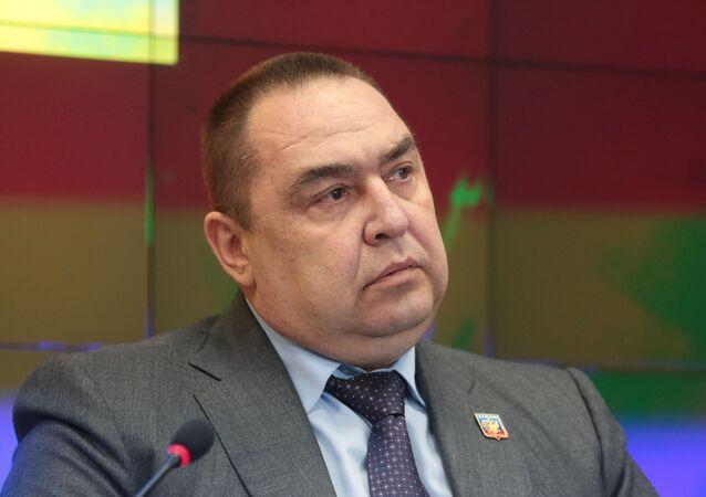 Hlava samozvané Luhanské lidové republiky Igor Plotnickij