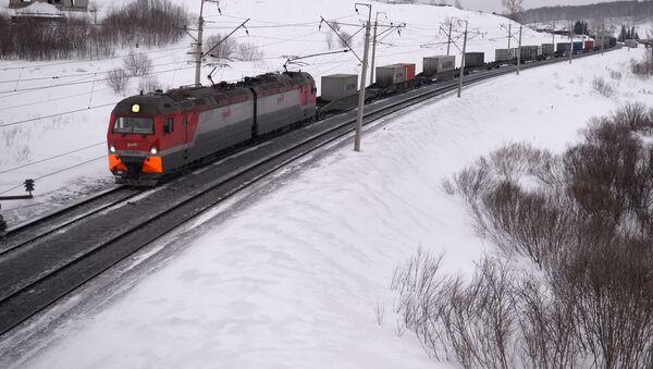 Nákladní vlak na Transsibiřské magistrále - Sputnik Česká republika
