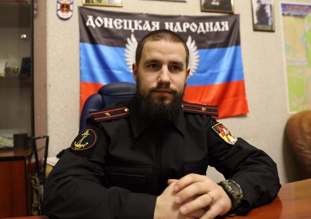 Velitel batalionu Sparta ozbrojených sil DLR Vladimir Žoga