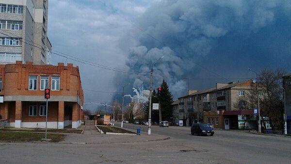 Požár v Balakliji - Sputnik Česká republika