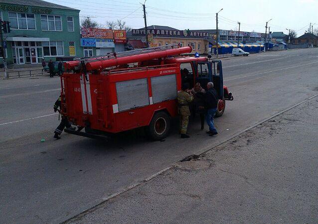 Požár muničního skladu v Balakliji na Ukrajině. Ilustrační foto