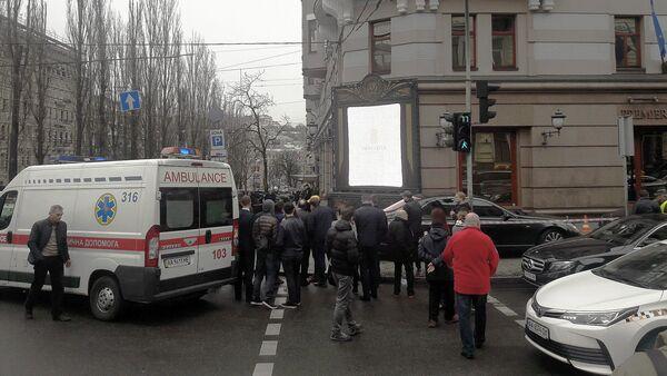 Místo vraždy bývalého poslance Státní dumy Děnise Voroněnkova - Sputnik Česká republika