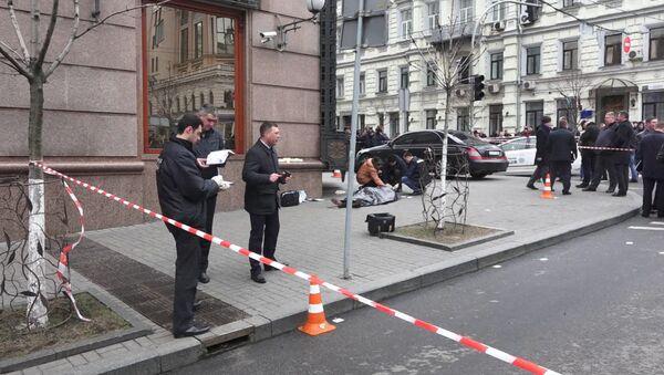 Objevilo se video z místa vraždy Voroněnkova v Kijevě - Sputnik Česká republika