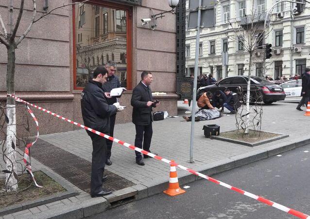 Objevilo se video z místa vraždy Voroněnkova v Kijevě