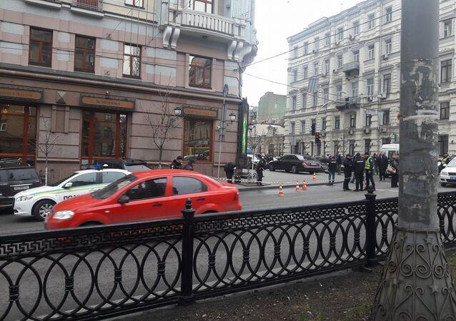 Místo, kde byl zavražděn Děnis Voroňenkov
