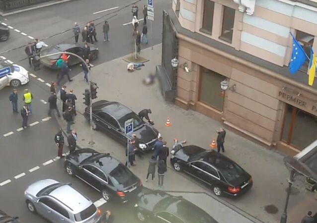 Záběry z místa vraždy Voroněnkova