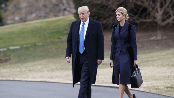 Donald Trump a Ivanka Trumpová - Sputnik Česká republika