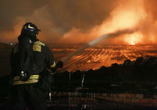 Požár v Moskvě (ilustrační foto)