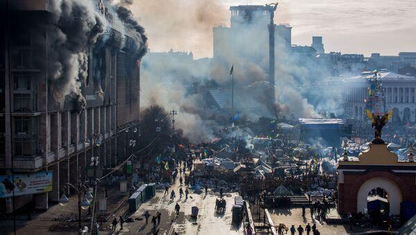 Střety opozice a policie na Majdanu v Kyjevě - Sputnik Česká republika