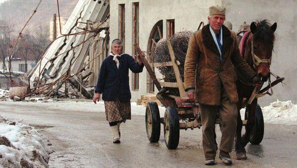 Bosenští Srbové v Srebrenici - Sputnik Česká republika