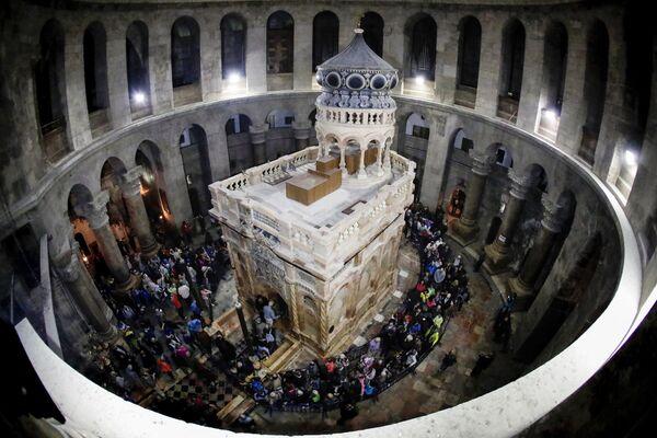 Zrestaurovaná kaple Božího hrobu v Jeruzalému - Sputnik Česká republika