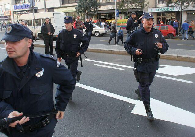 Srbská policie v Bělehradě. Archivní foto