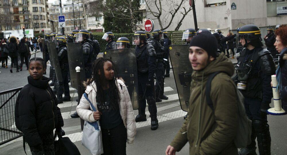 Protestní akce v Paříži
