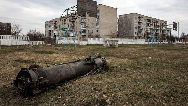 Pozůstatky rakety po požáru na skladě v Balakliji - Sputnik Česká republika