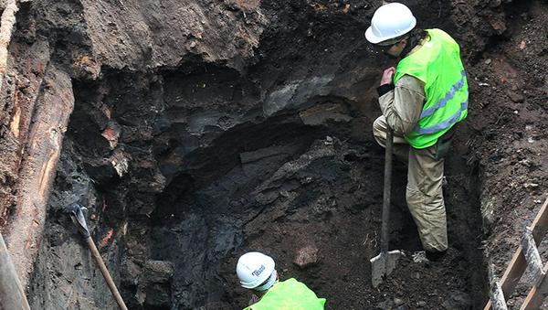 Archeologové objevili u Kitajgorodské zdi v centru Moskvy tajný pokoj - Sputnik Česká republika