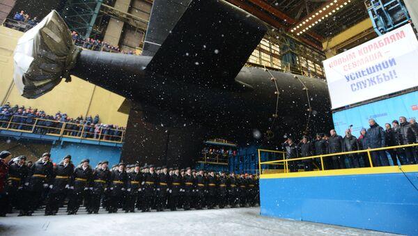 Jaderná ponorka Kazaň byla spuštěna na vodu - Sputnik Česká republika