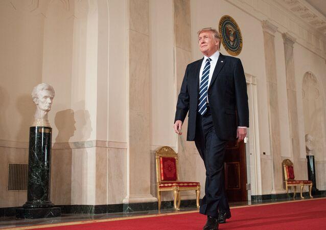 Prezident USA Donald Trump v Bílém domě