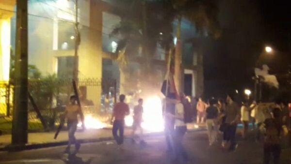 V paraguayské metropoli zahájila policie palbu na demonstranty - Sputnik Česká republika