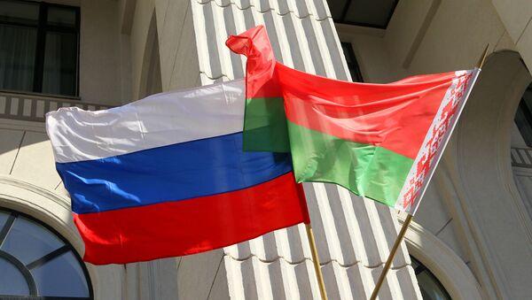 Vlajky Ruska a Běloruska - Sputnik Česká republika