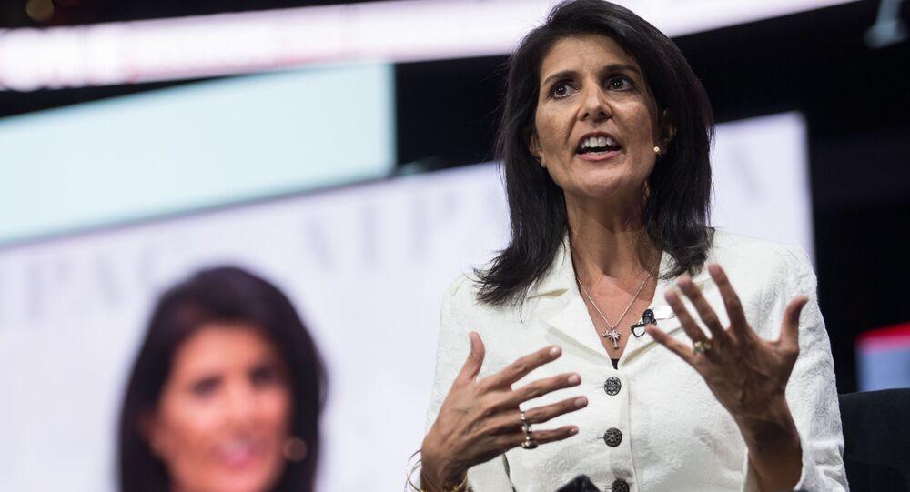 Stálá zástupkyně Spojených států při OSN Nikki Haleyová