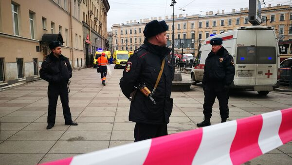 Policie v Petrohradu - Sputnik Česká republika