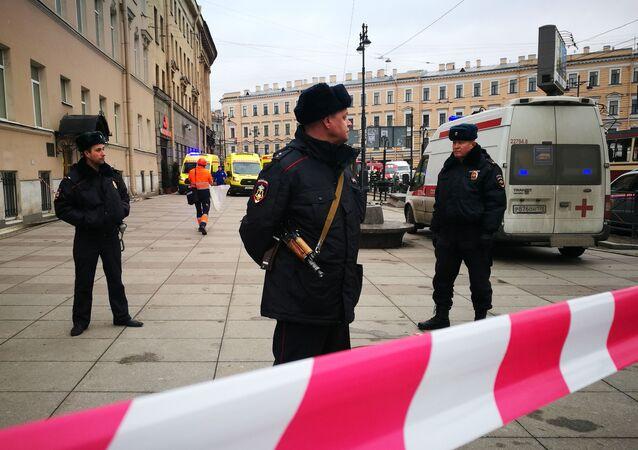 Policie v Petrohradu