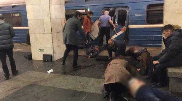 Exploze v metru Petrohradu - Sputnik Česká republika