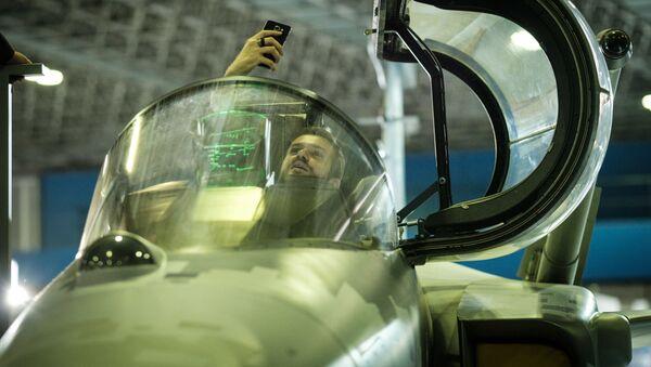 SAAB Gripen E. Výstava LAAD 2017, Brazílie - Sputnik Česká republika