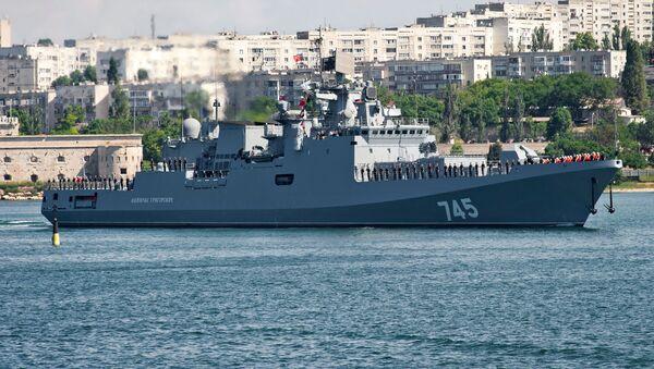 Nejnovější fregata Černomořské flotily Admirál Grigorovič - Sputnik Česká republika