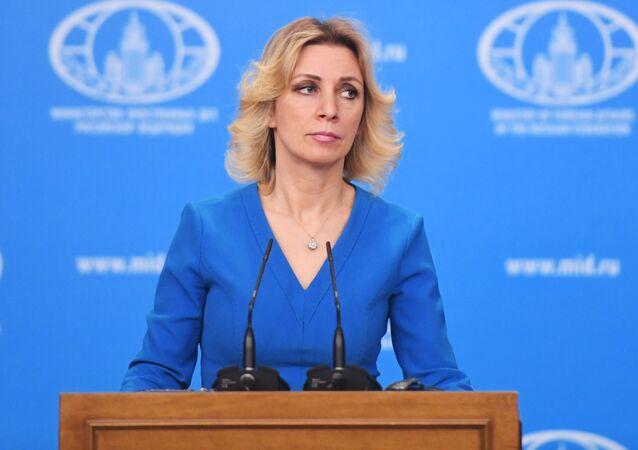 Oficiální zástupkyně MZV Ruska Maria Zacharovová